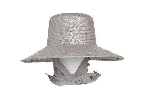 Clyde Medium Brim Flat Top Hat with Neckshade - Graphite
