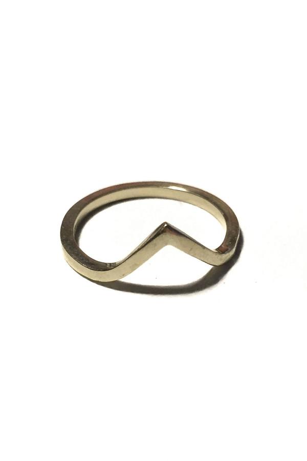 Emily Triplett Vee ring in yellow gold