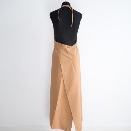 Baserange Apron Dress - Bath Brown