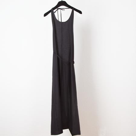 Baserange Apron Dress Raw Silk - Black