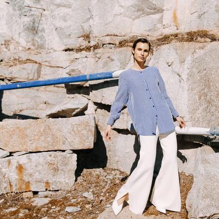 sunad CORRUBEDO Rayas Shirt - Blue/White
