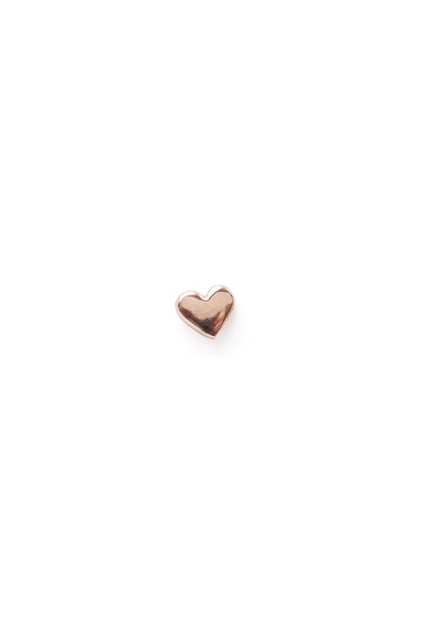 Catbird Classic Heart Stud, 14K Rose Gold
