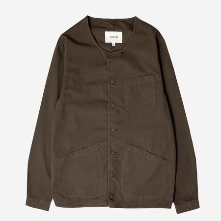 Kestin Hare Neist Collarless Overshirt - Olive Ripstop