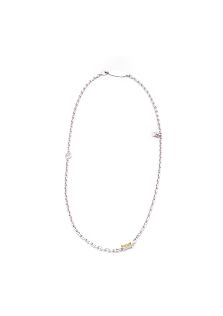 PRE-ORDER Cough In Vain Cubic-zirconia & Pearl Chain necklace
