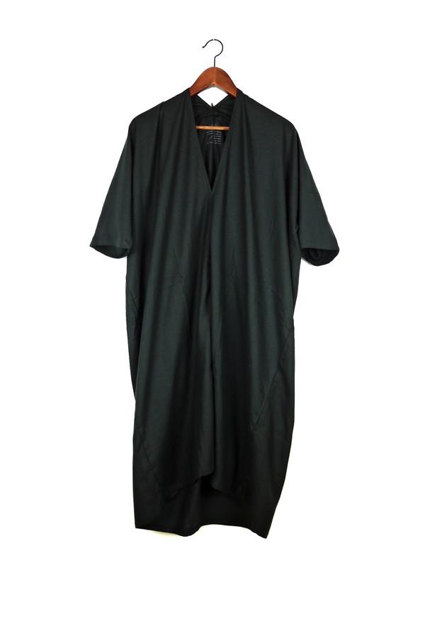 Miranda Bennett Muse Dress, Oversized, Black Silk Noil