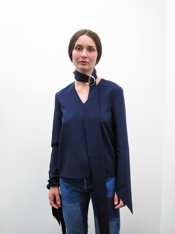 Andrea Jiapei Li Tied Neck/Knot Sleeve Top