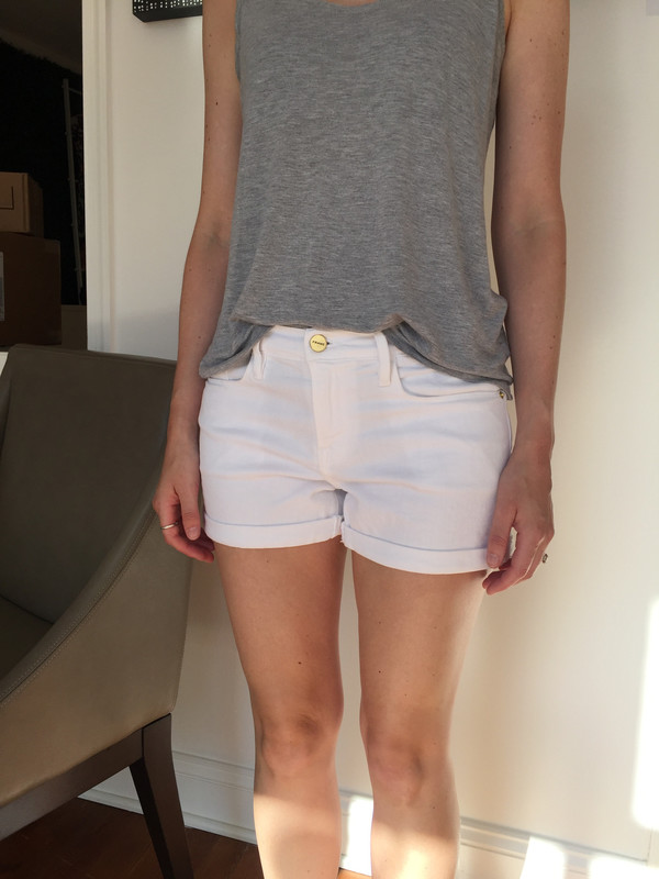 FRAME Denim Le Cut Off Cuffed Jean Shorts