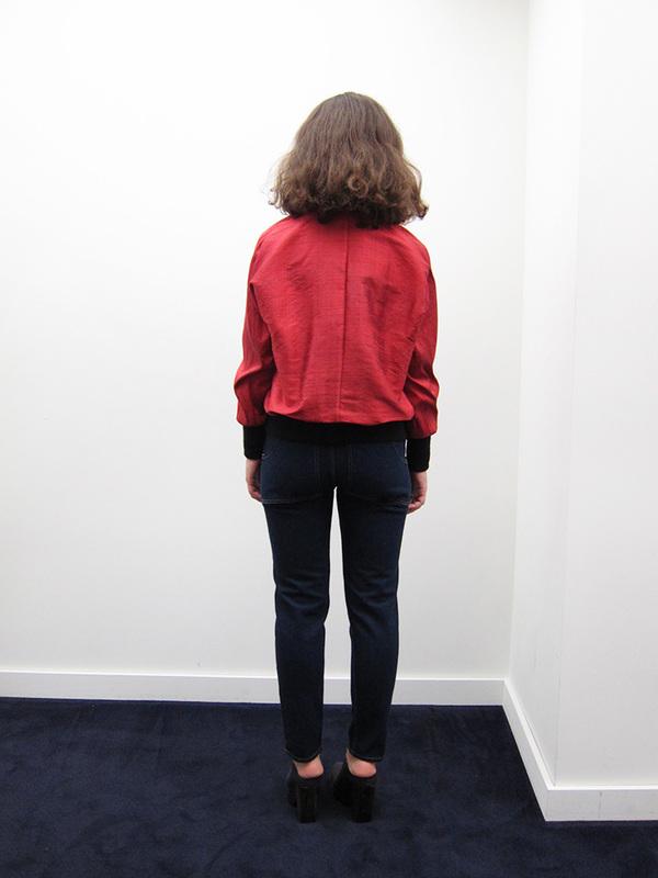 Alexa Stark Red Silk Bomber