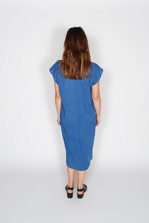 Miranda Bennett In-Stock: Everyday Dress, Cotton Gauze in Indigo