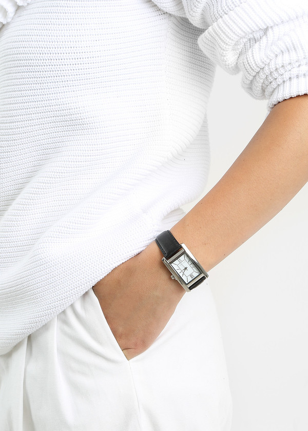 Berg + Betts Black and Silver Classic Watch