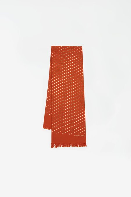 Universal Works Short scarf - dot print orange