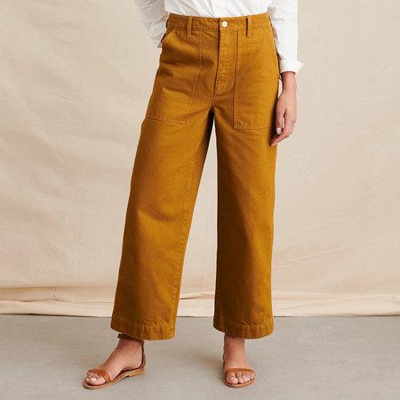 Alex Mill Patrick Washed Denim Pant - Golden Khaki