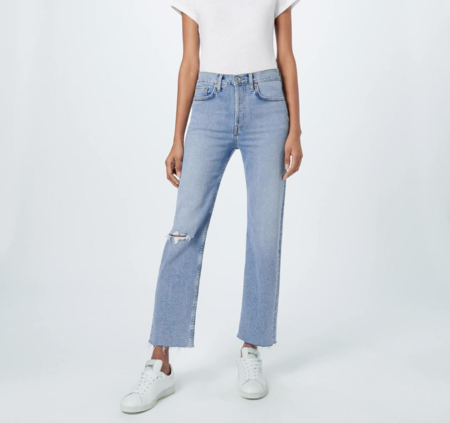 High Rise Stove Pipe Jeans - Cloudy Blue