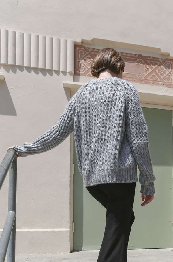 Objects Without Meaning Rib Sweater in Grey