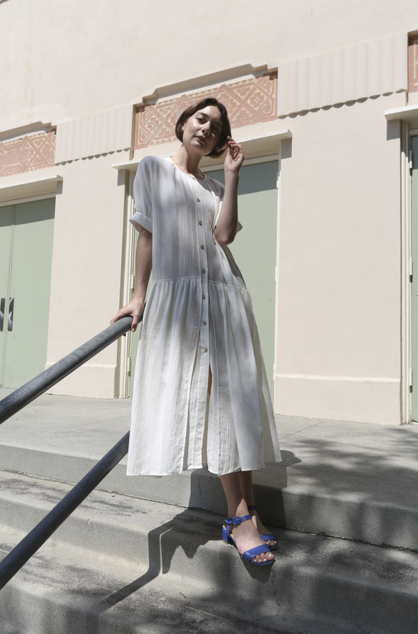 Caron Callahan March Dress in Ivory