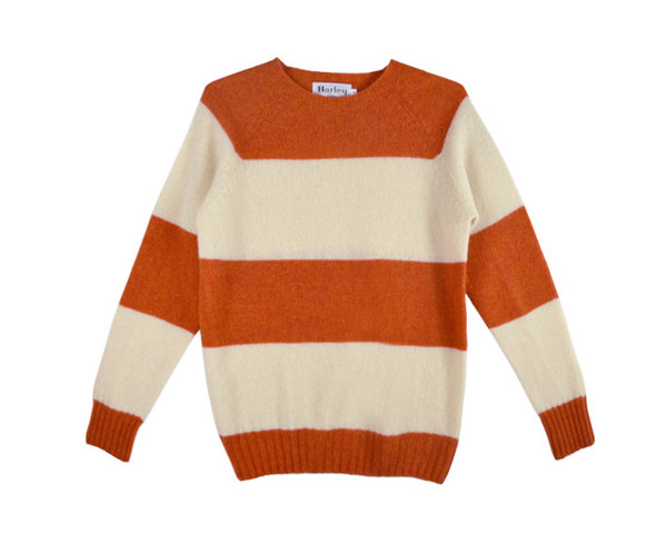HARLEY OF SCOTLAND - STRIPED SWEATER - MEDIUM ONLY
