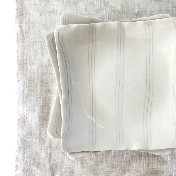 Ovo Ceramics Quiet Stripe Dish