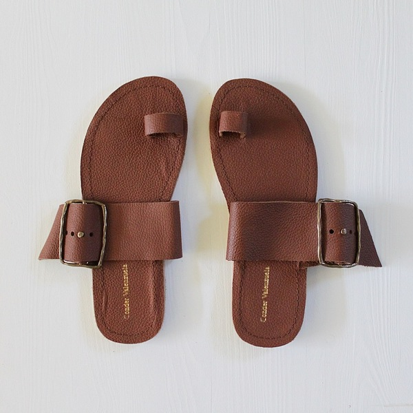 Unknown Hammered Leather Slides