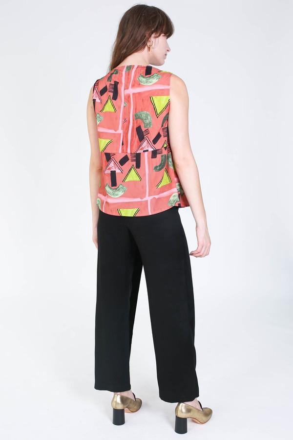 Rachel Comey Sleeveless longfellow top in clay print