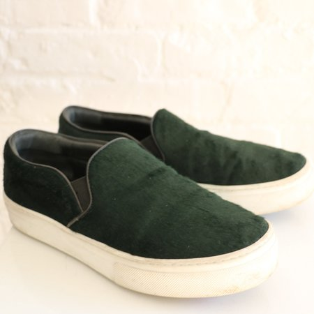Pre-loved Celine Slip On Sneaker - Green