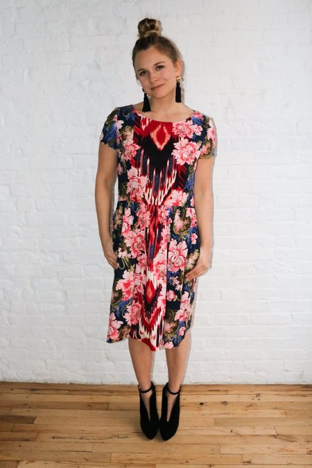 [pre-loved] Oscar de la Renta Kaleidoscope Print Dress - pink