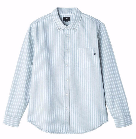 Men's Obey Rudy Grey Stripe Shirt