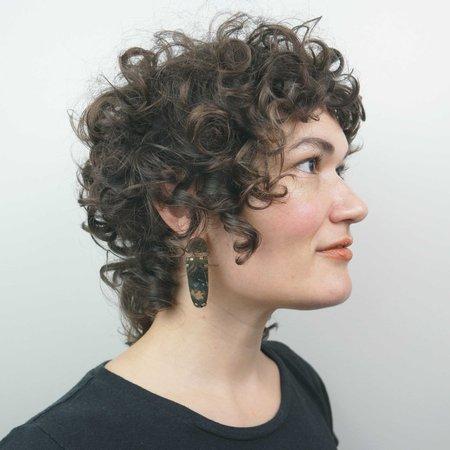 Mesa Akaina Earrings - Agate/Brass
