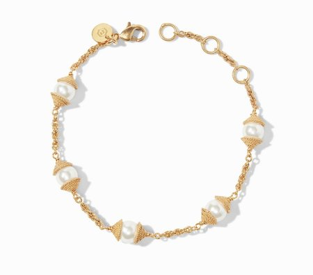 Julie Vos Calypso Pearl Delicate Bracelet