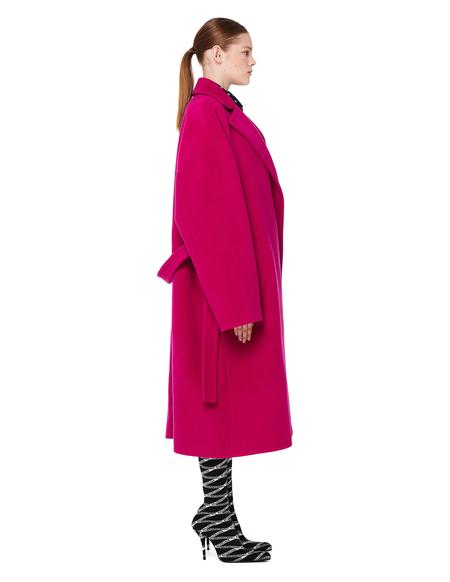 Balenciaga Pink Baby Camel Wrap Trench Coat
