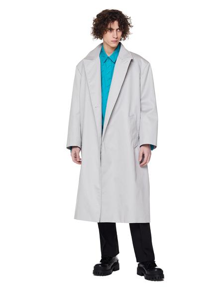 Balenciaga Light Grey Cotton Coat