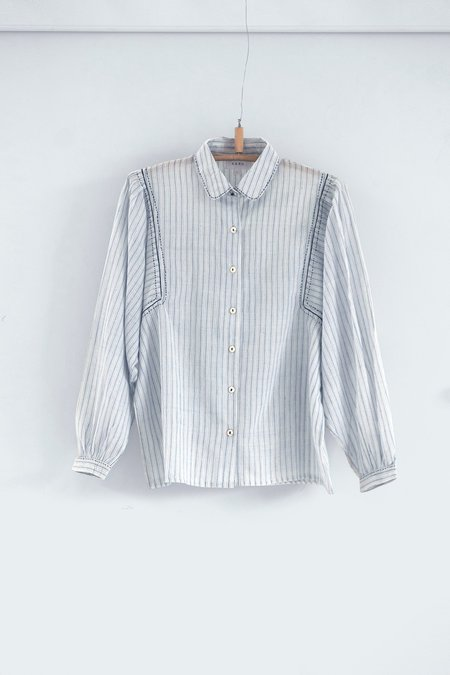 Karu The Author's Blouse - Blue/White