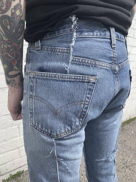 Old Park Slim Flare Jeans - washed indigo
