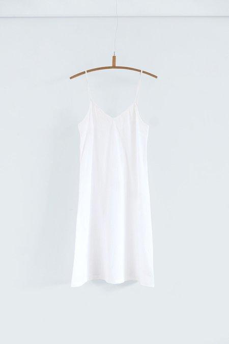 Karu Cotton Slip Dress - White