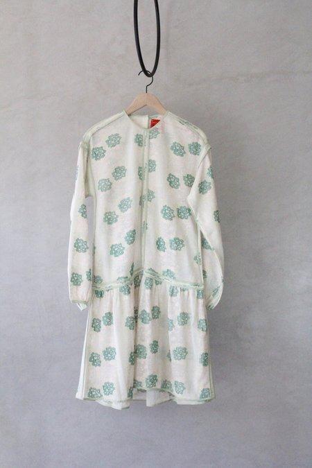 ALOJA Handmade Luna Dress - Green Floral