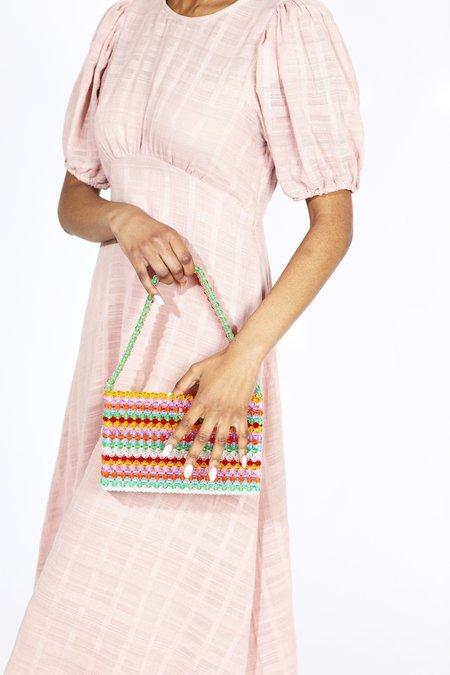 Susan Alexandra Sour Straw Faceted Bead Bag