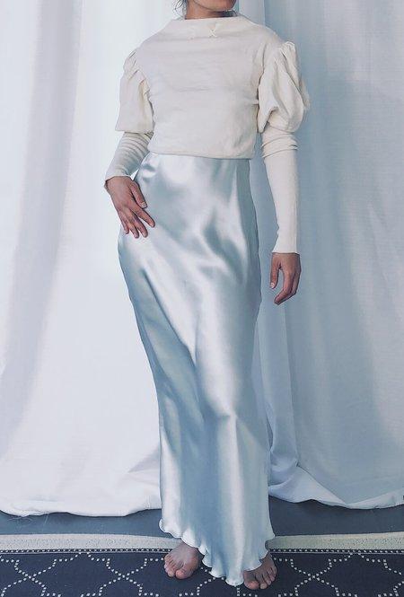 Petit Mioche silk slip dress - sky