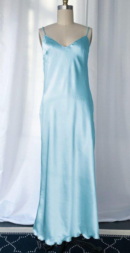 Petit Mioche silk slip dress - ocean