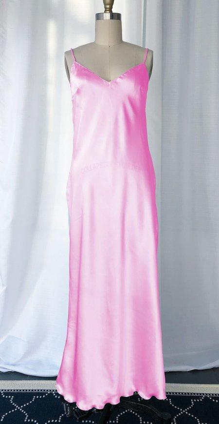 Petit Mioche silk slip dress - pink moon