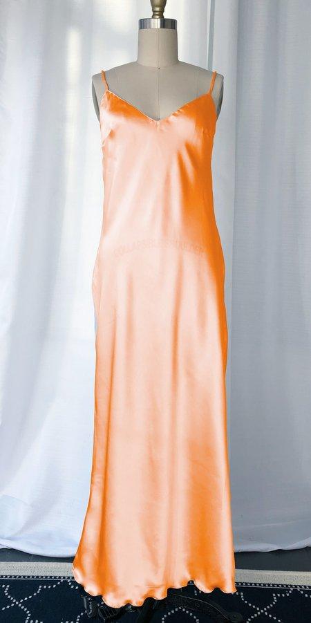 Petit Mioche silk slip dress - sunset