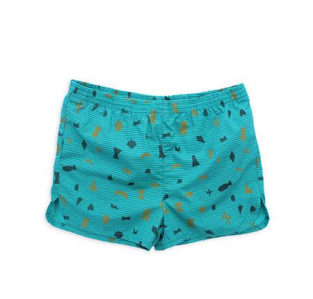 M. CARTER Shape Board Shorts - Shape/Teal