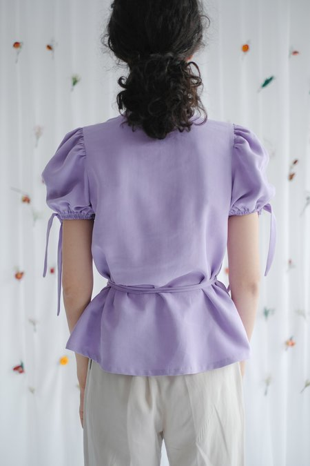 OhSevenDays Allie Wrap Blouse - Orchid