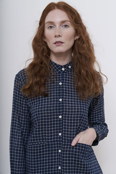 Karu catriona blouse - Midnight/IvoryCheck
