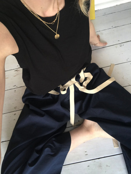 AVN Italy AVN Wide Leg Pants - Navy