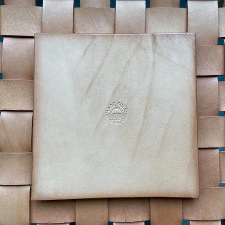 Mde Solid Talavera Tile Coaster Set - Blue/White
