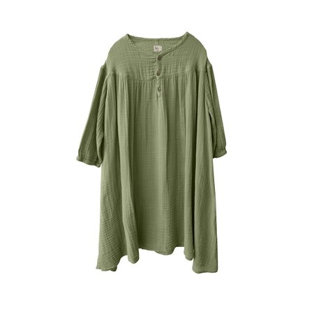 kids nico nico Lotus Gauze Dress - Celery