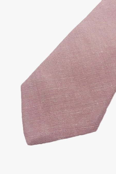 POCKET SQUARE CLOTHING Liam Linen Tie - Pink