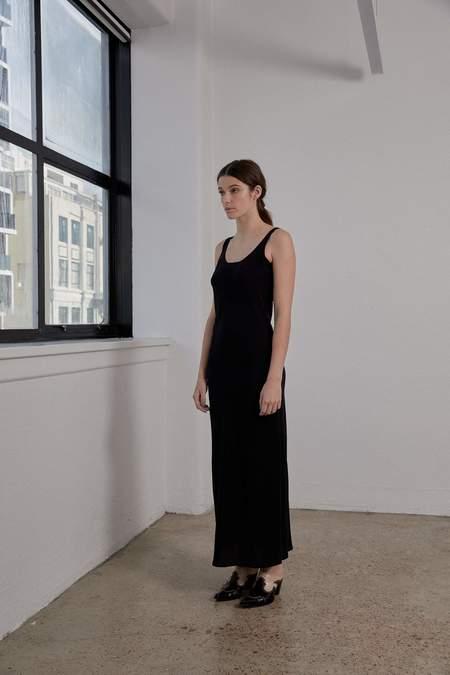 OVNA OVICH Doma Dress - Onyx Silk Crepe