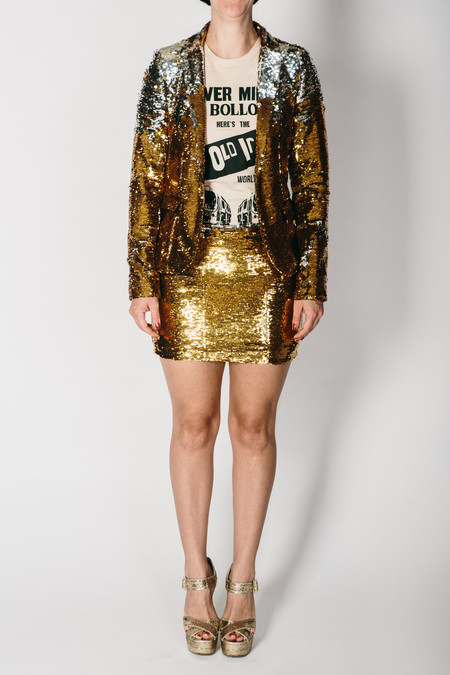 Any Old Iron Sequin Jacket - Gold/Silver