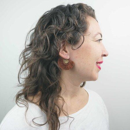 Rebekah J Designs Point Fringe Earrings - Sterling Silver/Marigold