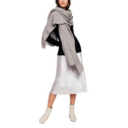 White+Warren Travel Wrap scarf - Grey Heather